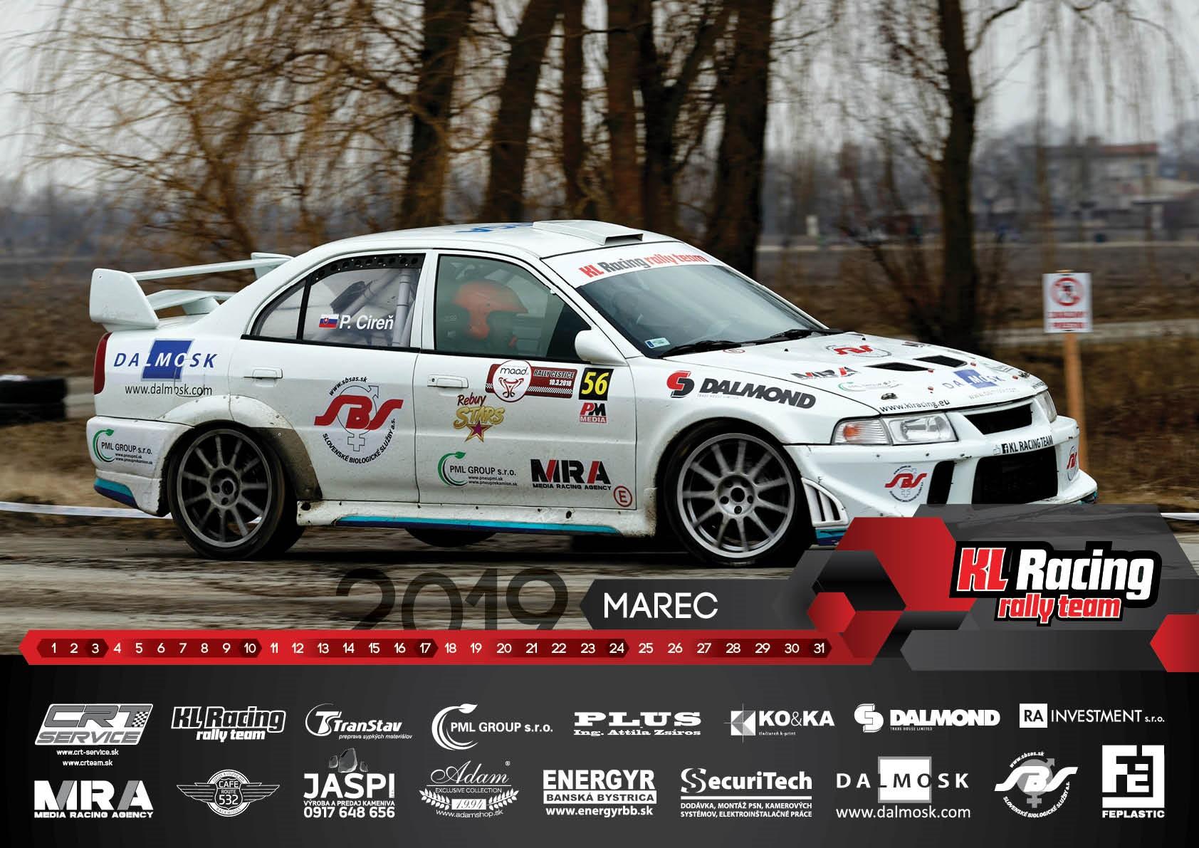 KL Racing kalendár 2018